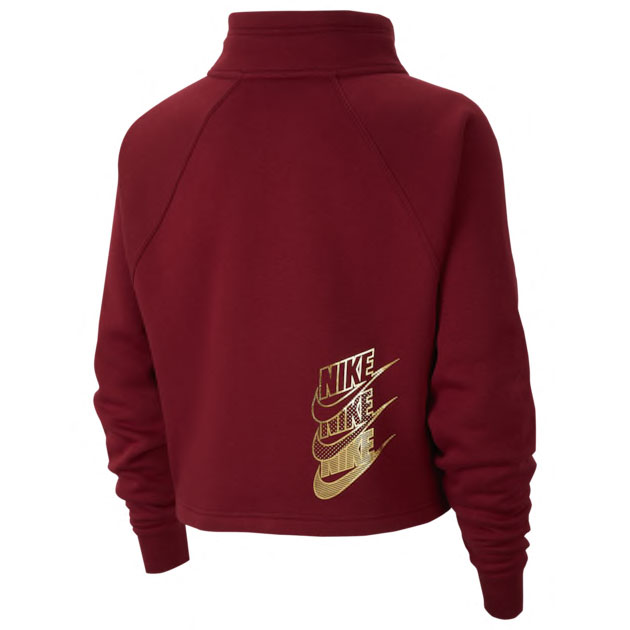 nike-womens-hoodie-red-metallic-gold-2