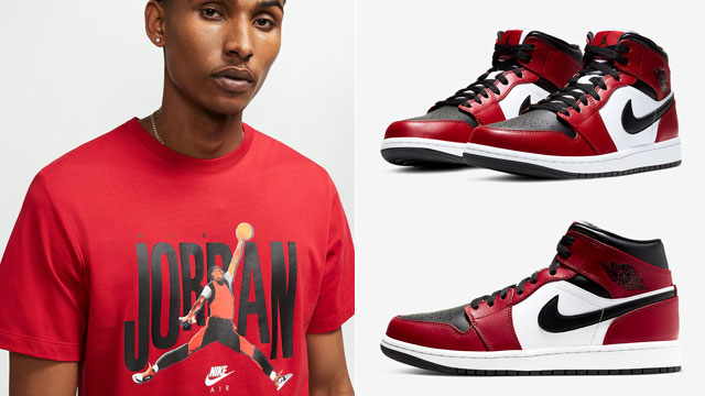 air-jordan-1-mid-chicago-black-toe-tee
