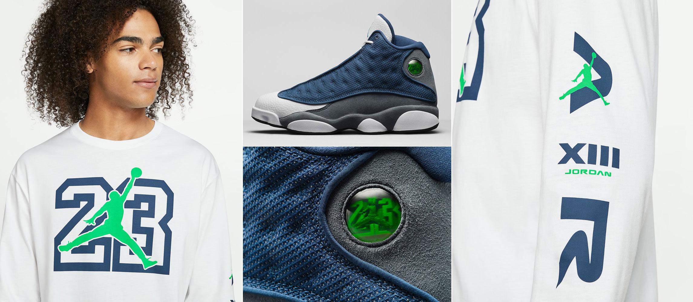 Air Jordan 13 Flint 2020 Long Sleeve Shirt Sneakerfits Com