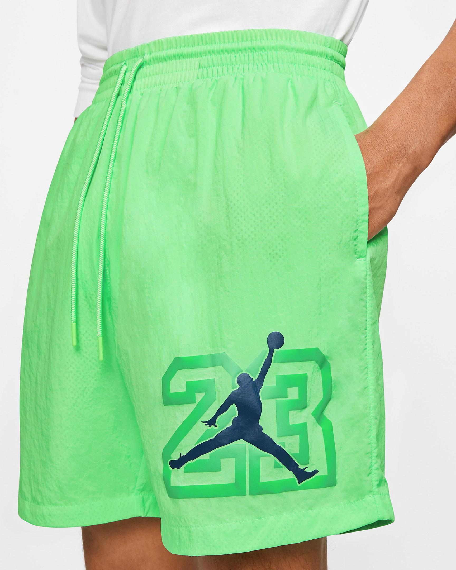 air-jordan-13-flint-2020-poolside-shorts-green-1