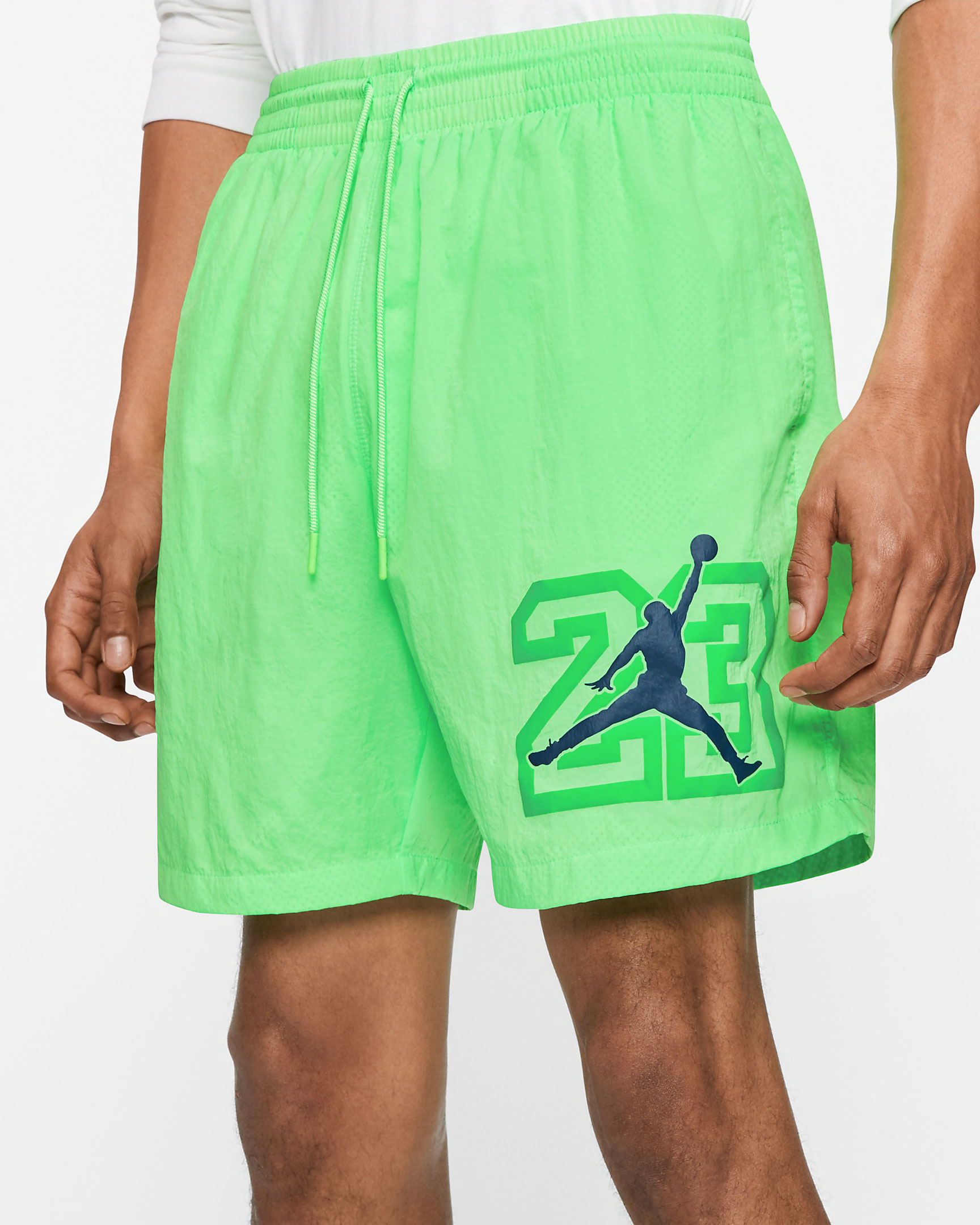 air-jordan-13-flint-2020-poolside-shorts-green-2