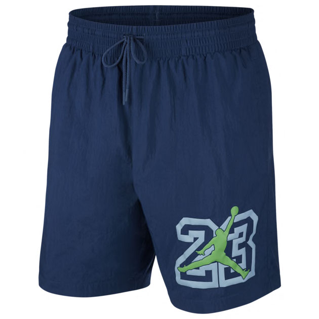 air-jordan-13-flint-2020-poolside-shorts-navy-blue-1