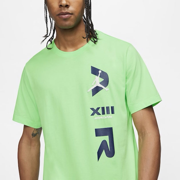 air-jordan-13-flint-logo-shirt-green