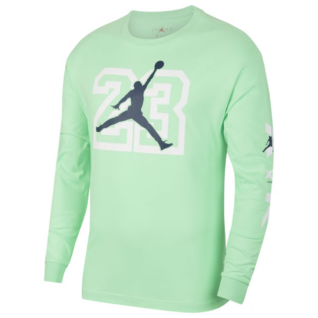 air-jordan-13-flint-long-sleeve-shirt-green