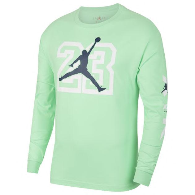 air-jordan-13-flint-long-sleeve-shirt-green