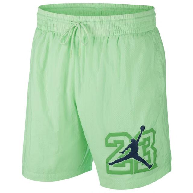 air-jordan-13-flint-shorts-green-1