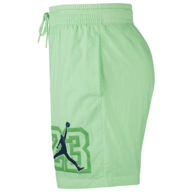 air-jordan-13-flint-shorts-green-2