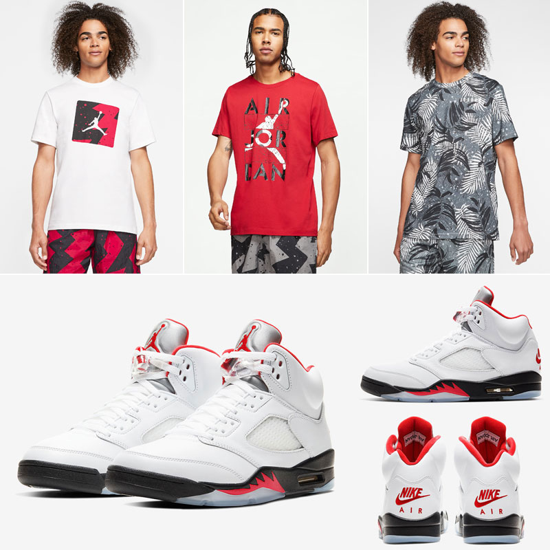 air-jordan-5-fire-red-2020-summer-clothing