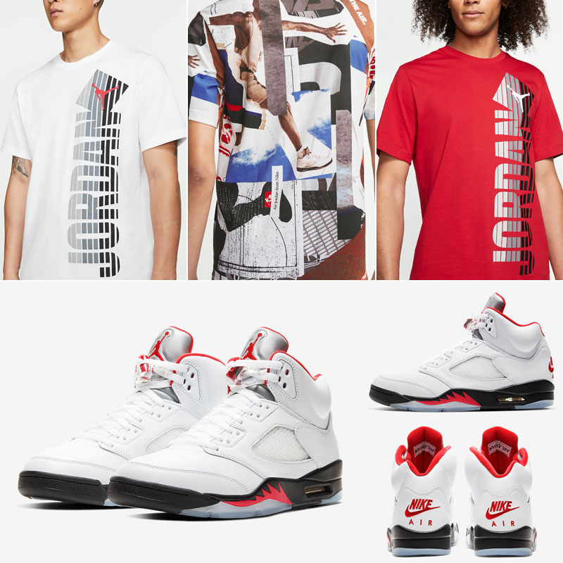air-jordan-5-fire-red-matching-shirts