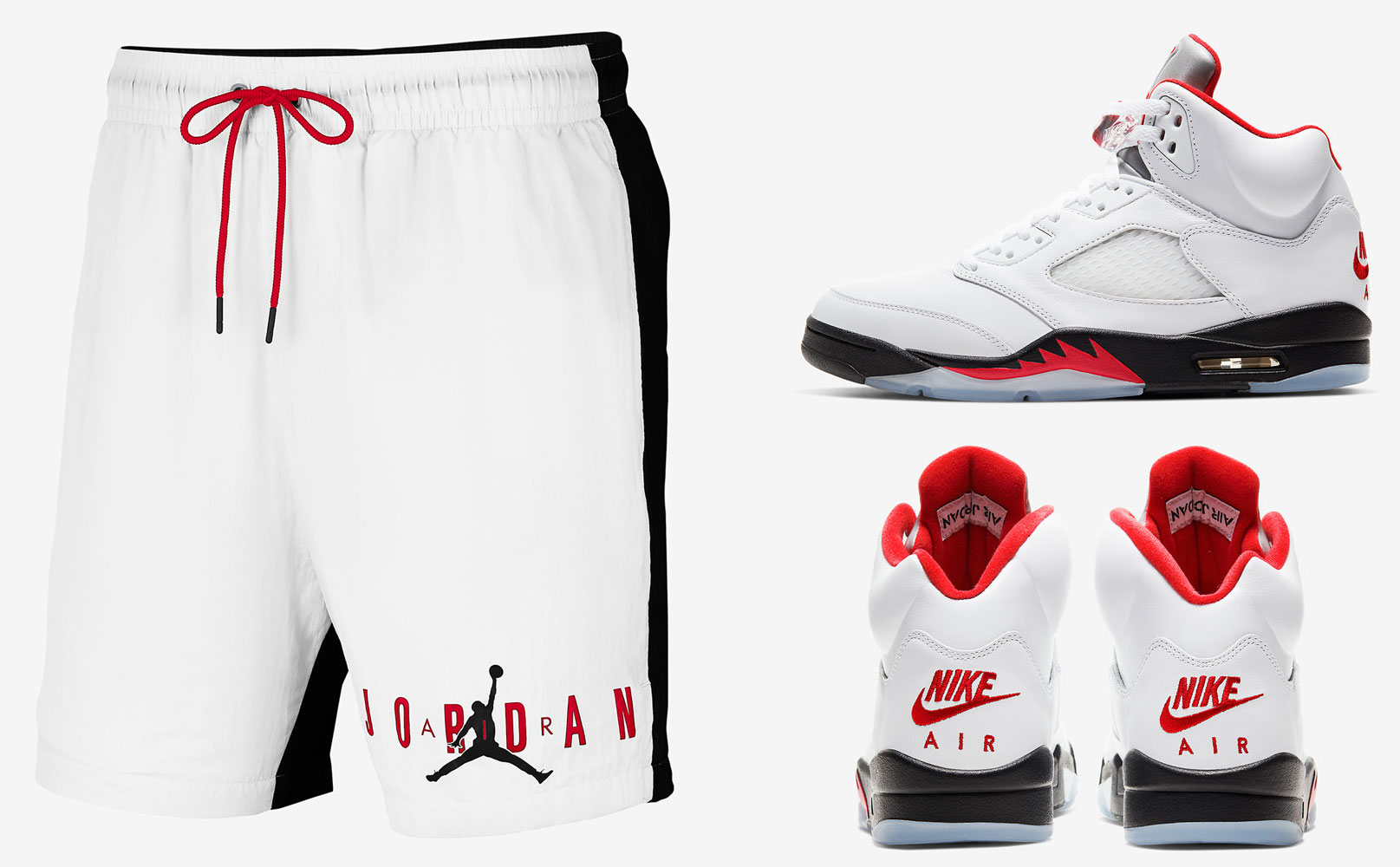 air-jordan-5-fire-red-shorts-match