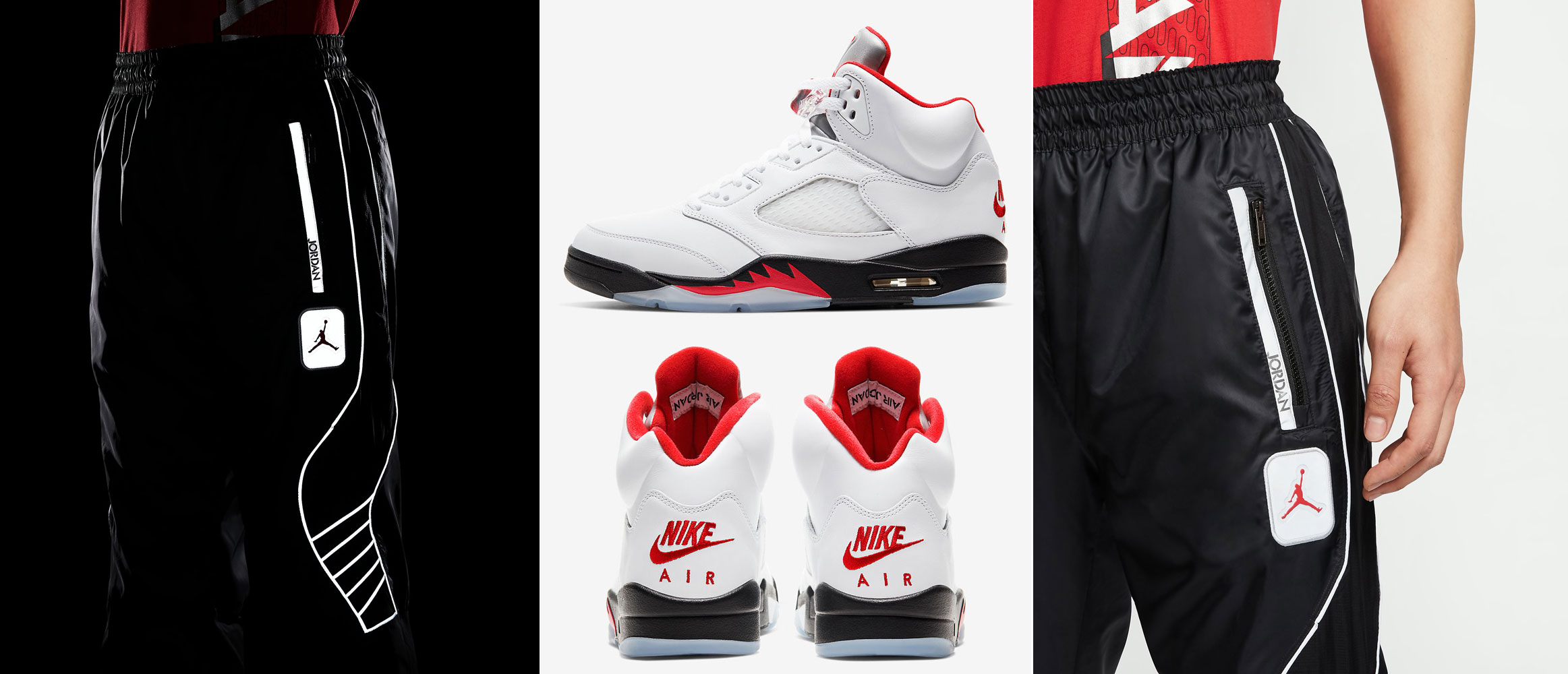 air-jordan-5-fire-red-silver-tongue-reflective-pants