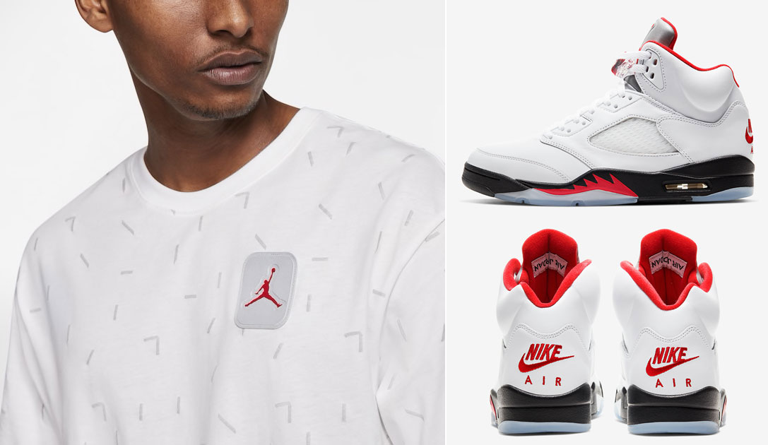 air-jordan-5-fire-red-silver-tongue-shirt