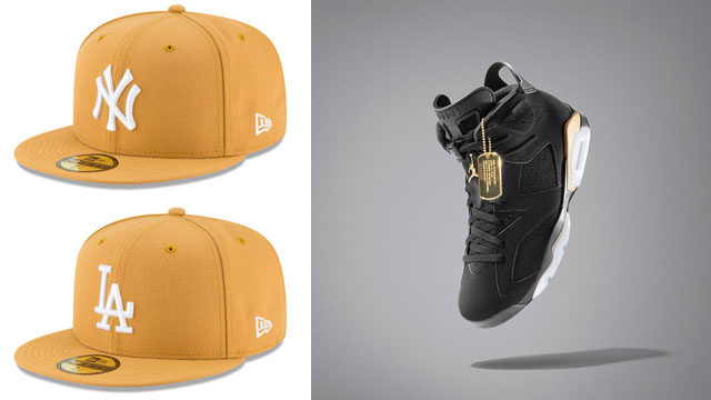 air-jordan-6-dmp-new-era-gold-fitted-caps