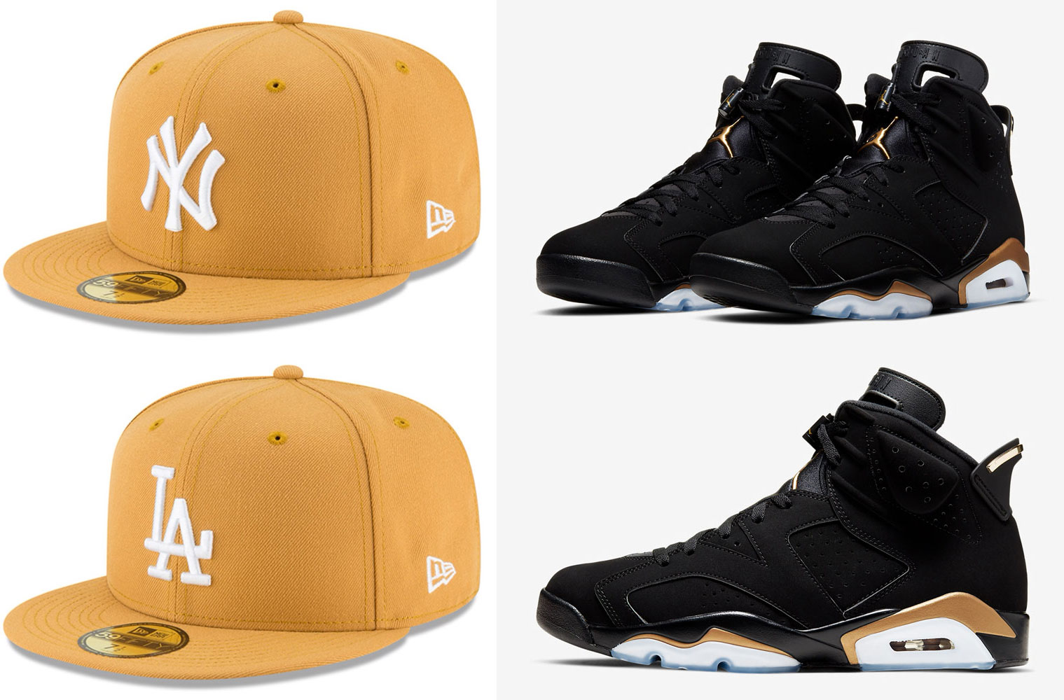 air-jordan-6-dmp-new-era-gold-fitted-hats