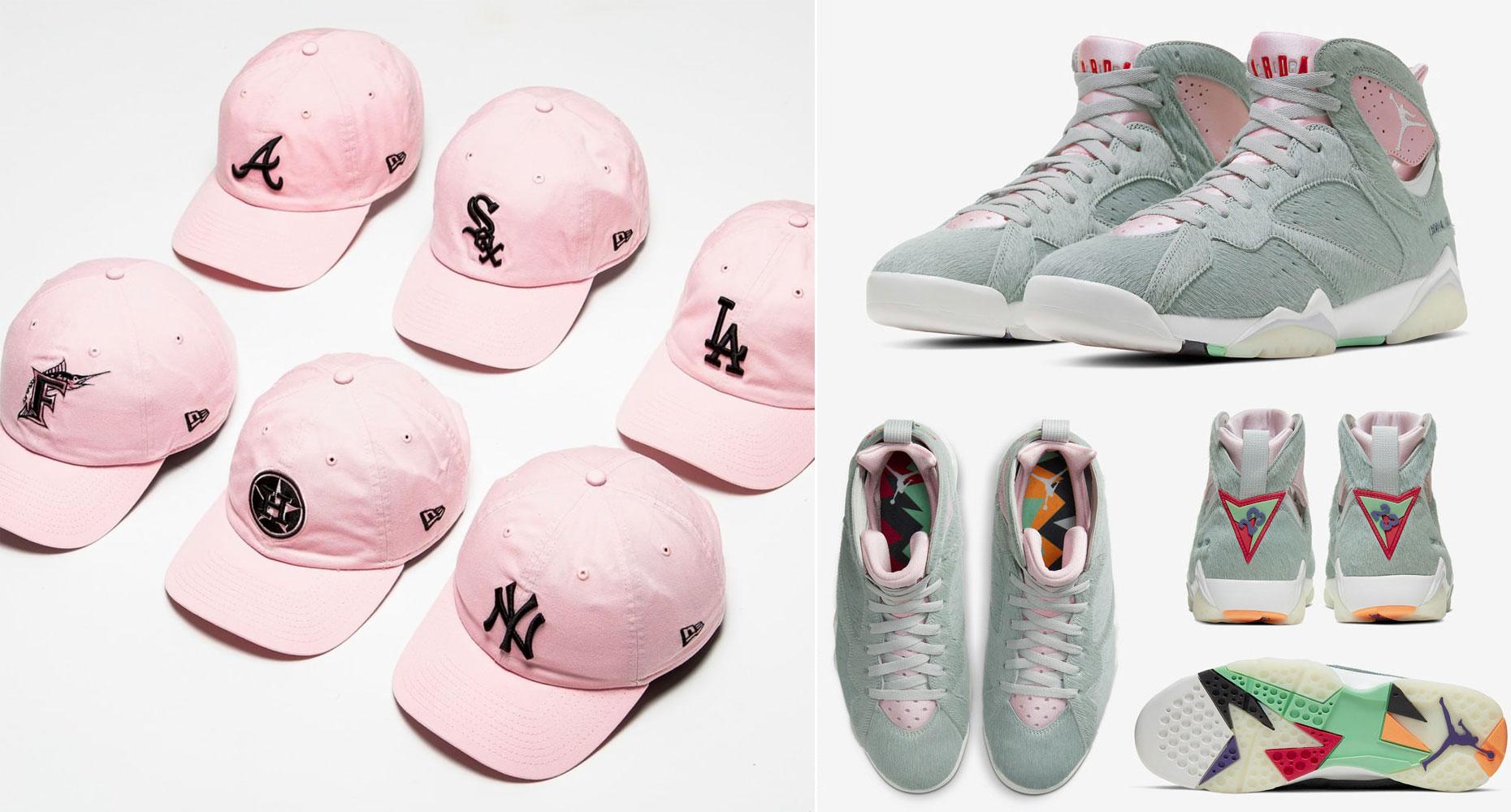 air-jordan-7-hare-new-era-pink-hats