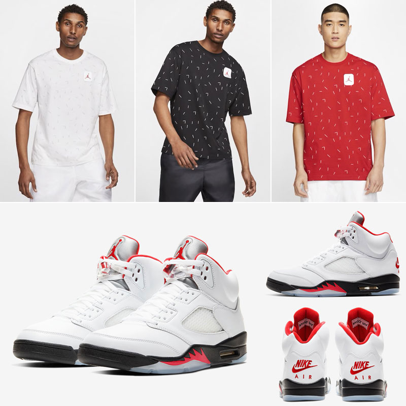 fire-red-air-jordan-5-2020-t-shirts
