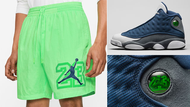 jordan-13-flint-2020-poolside-shorts