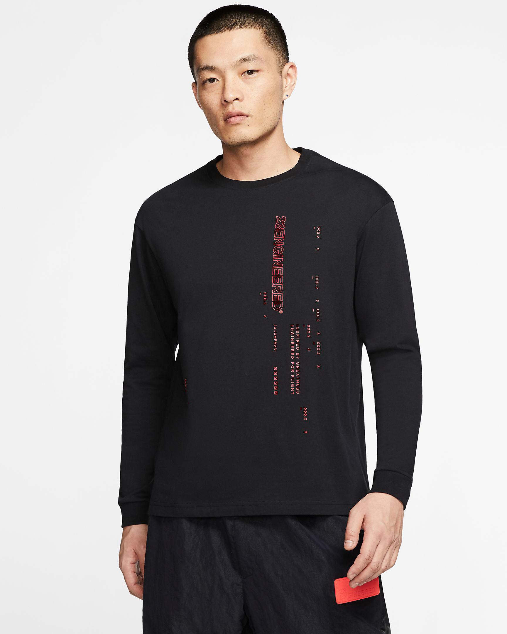 jordan-23-engineered-long-sleeve-shirt-black-red-1