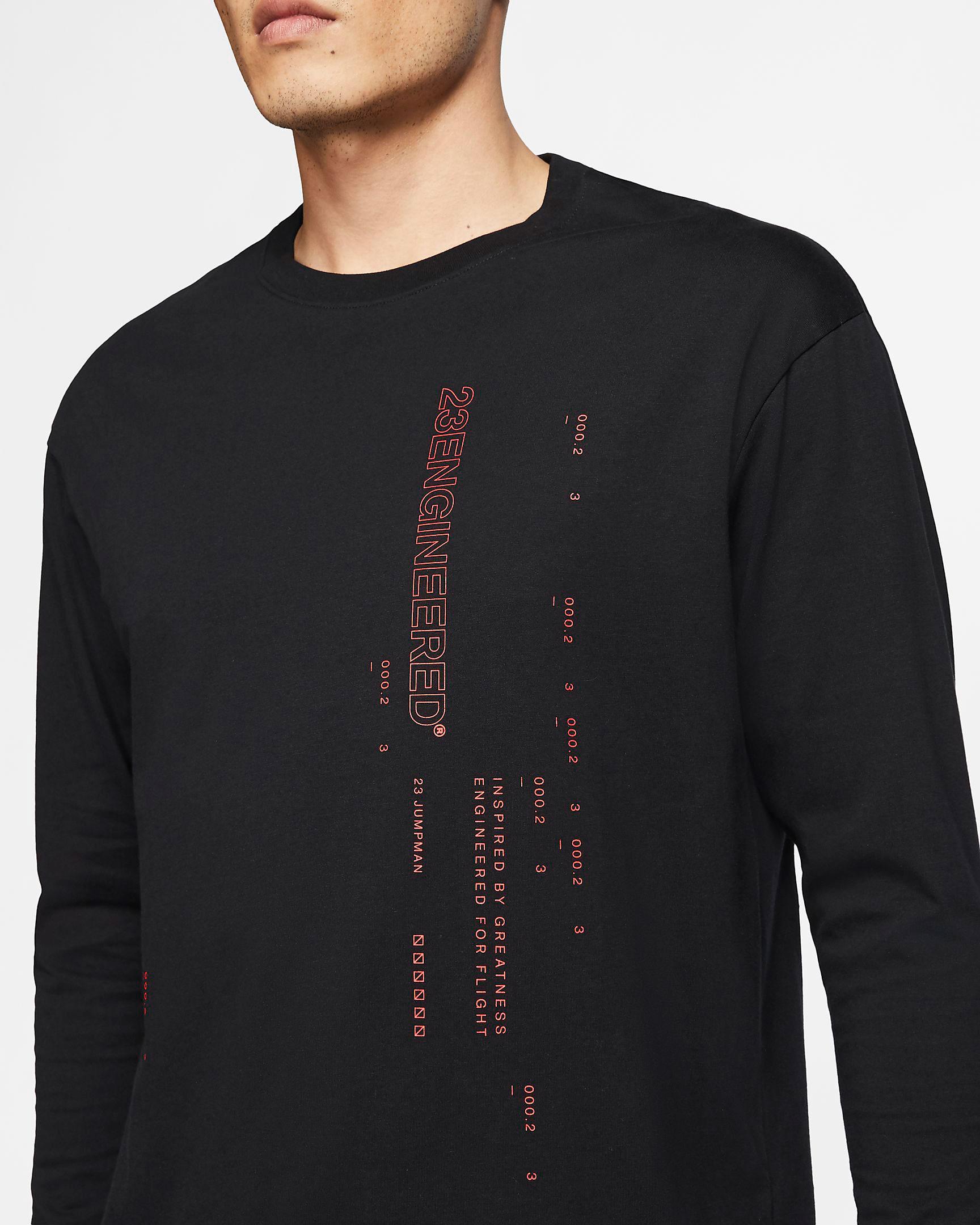 jordan-23-engineered-long-sleeve-shirt-black-red-3