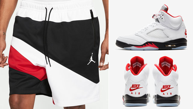 jordan-5-fire-red-2020-matching-shorts