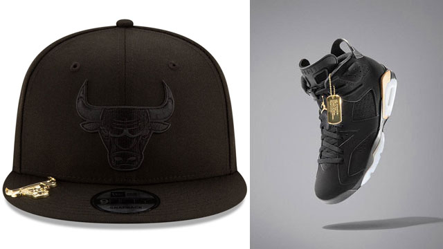 jordan-6-dmp-black-gold-new-era-bulls-snapback-cap