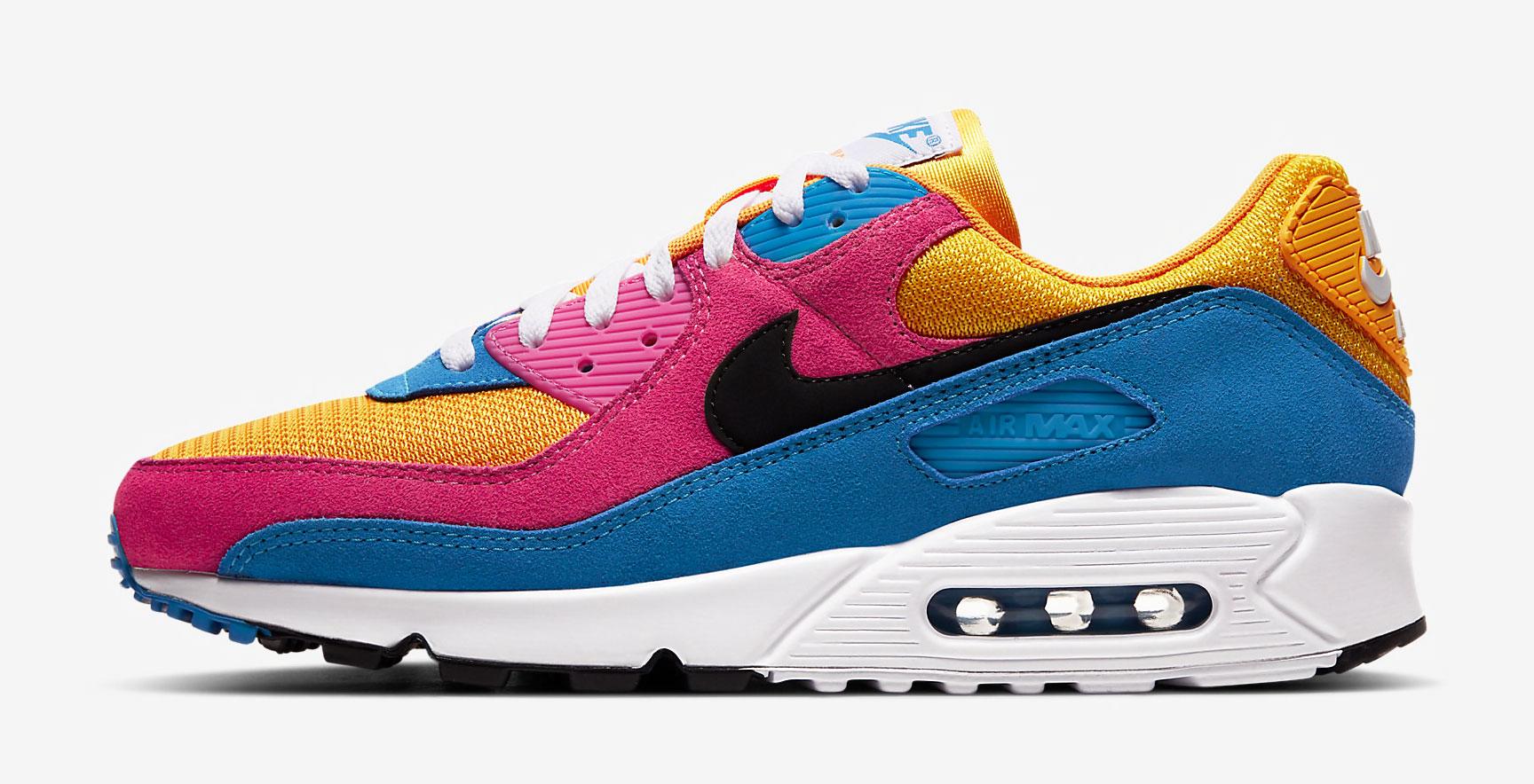 nike-air-max-90-yellow-pink-blue