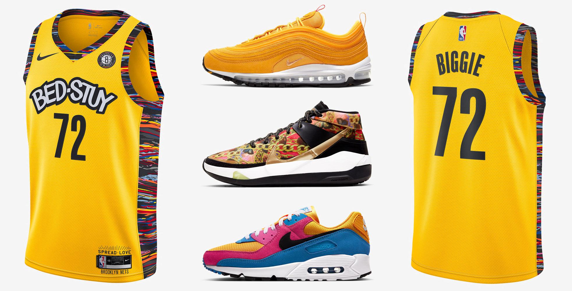 nike-biggie-brooklyn-nets-yellow-jersey-sneaker-match