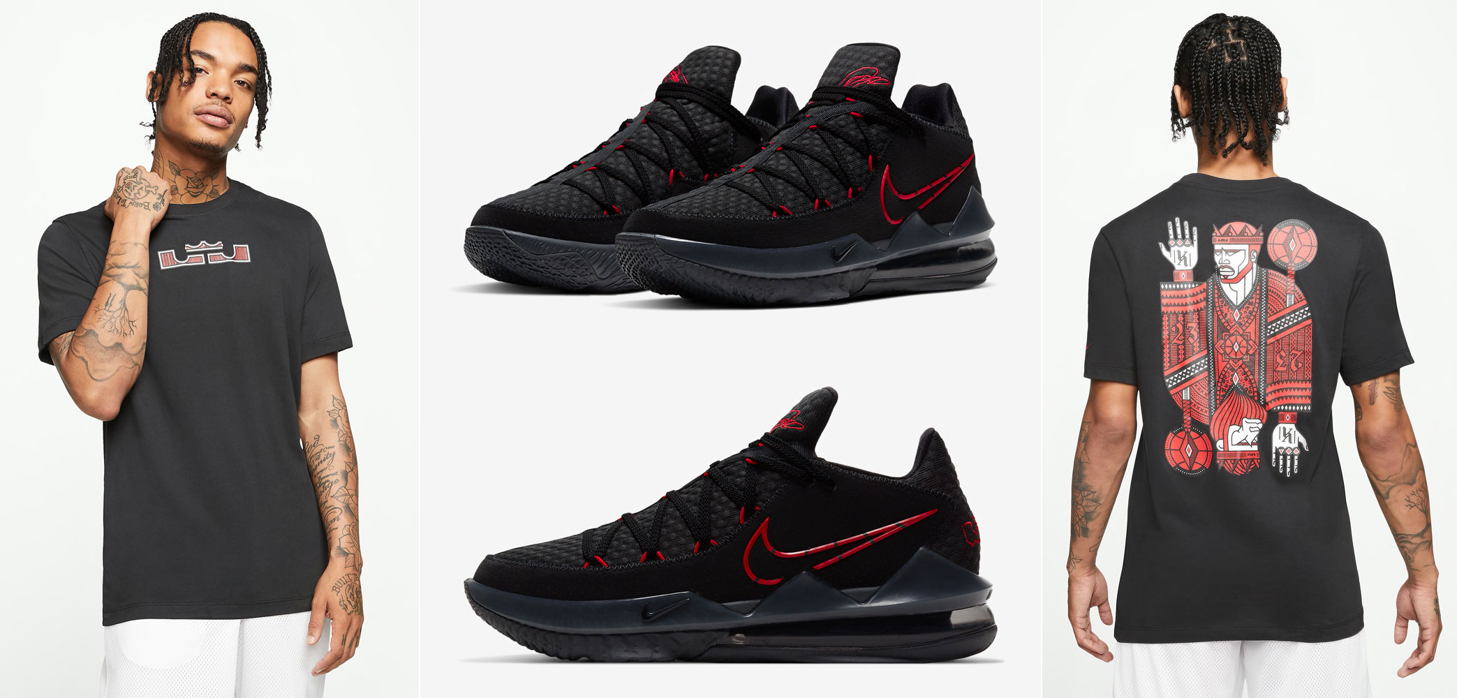 nike-lebron-17-low-bred-black-red-shirt
