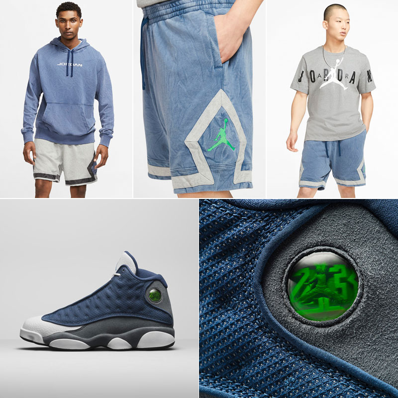air-jordan-13-flint-2020-shorts-to-match
