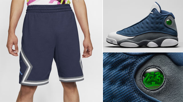 air-jordan-13-flint-navy-grey-shorts