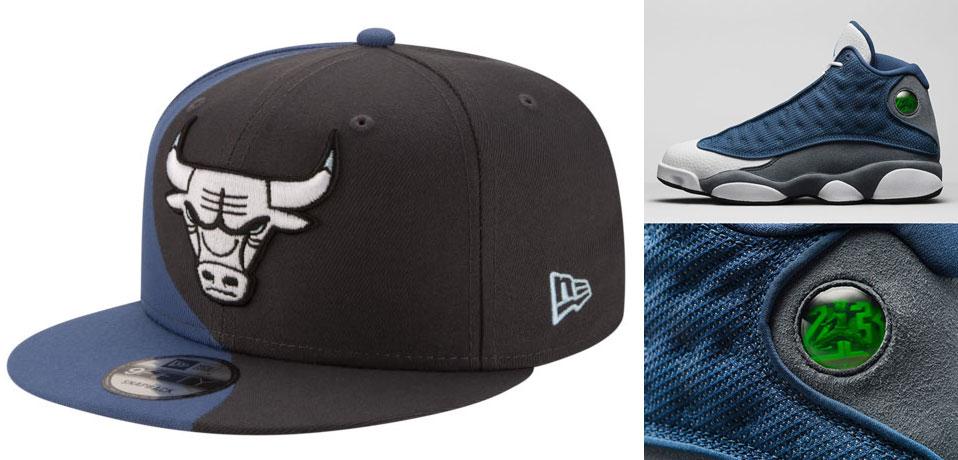 air-jordan-13-flint-new-era-bulls-snapback-hat