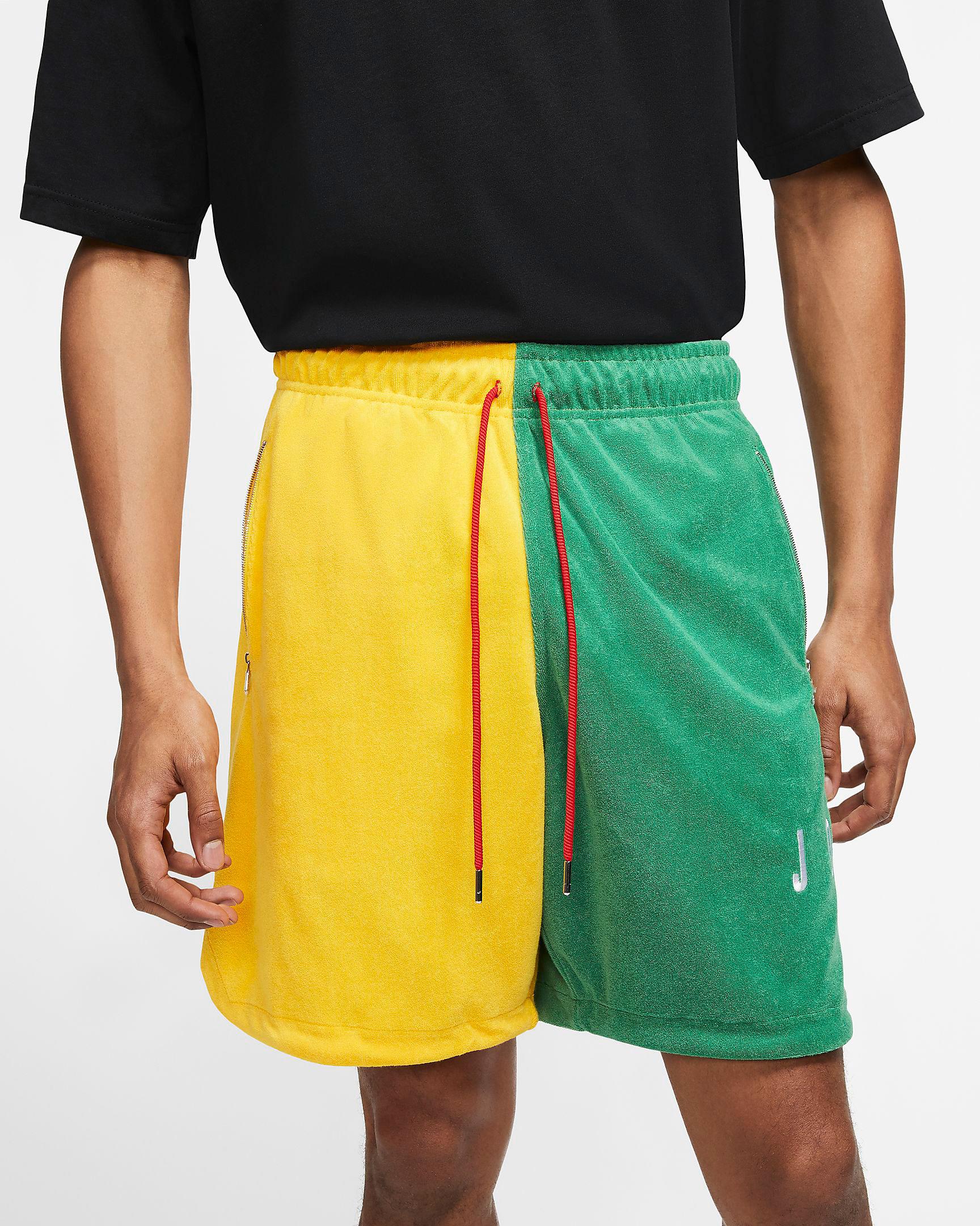 air-jordan-4-green-metallic-shorts-match-1