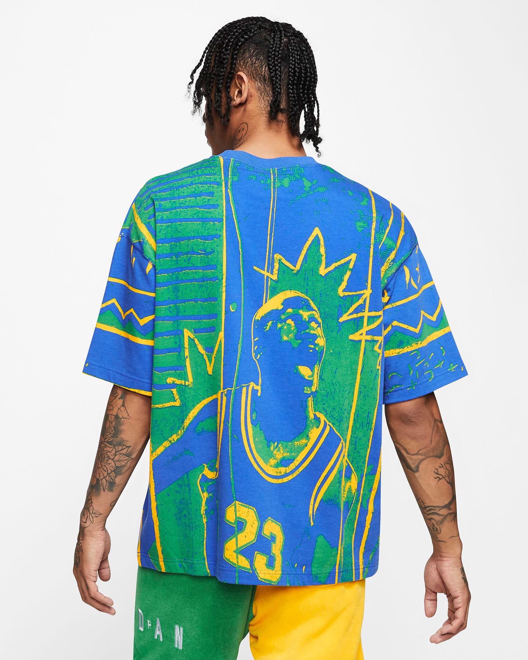 air-jordan-4-green-metallic-t-shirt-match-2