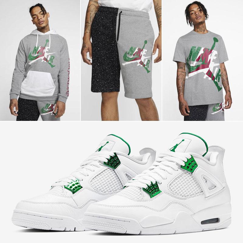 air-jordan-4-metallic-green-clothing-match