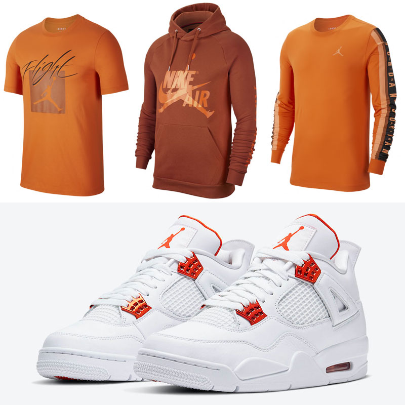air-jordan-4-metallic-orange-clothing-match