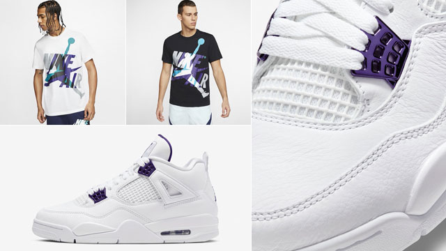 air-jordan-4-metallic-purple-tee-shirts