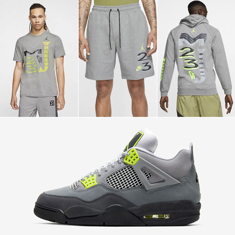 air-jordan-4-neon-volt-clothing