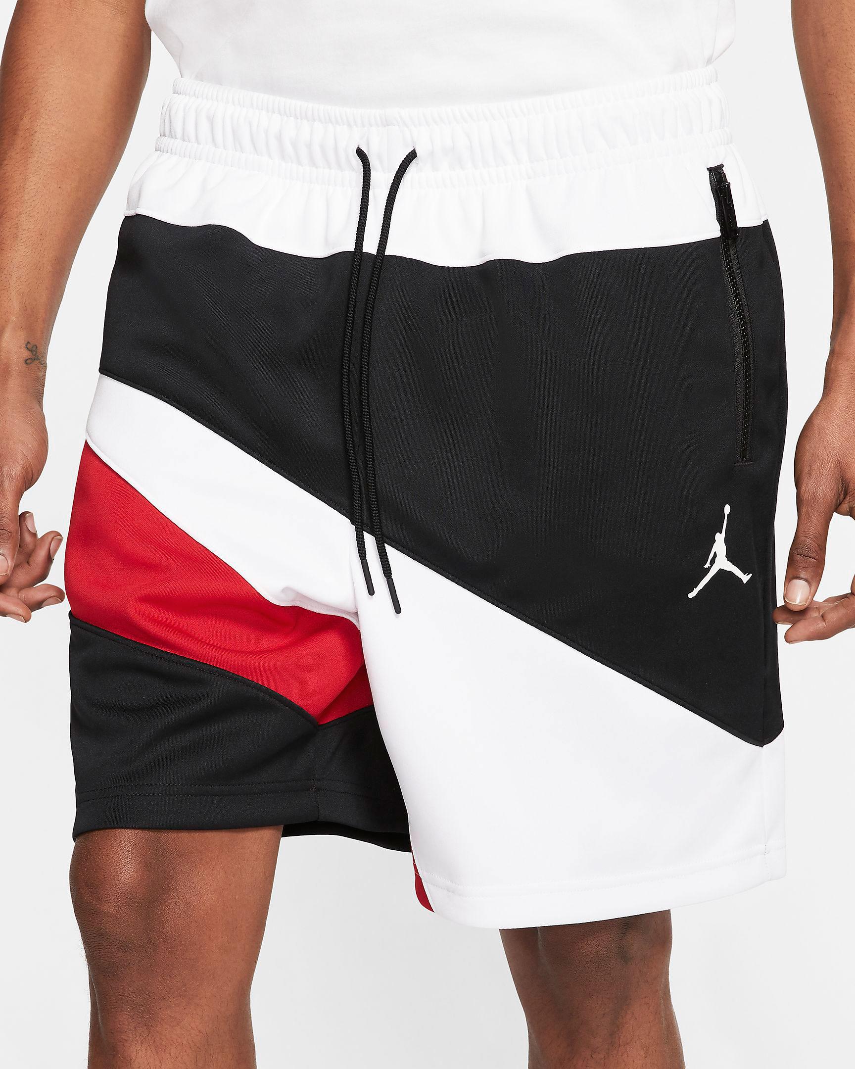 air-jordan-4-red-metallic-matching-shorts-1