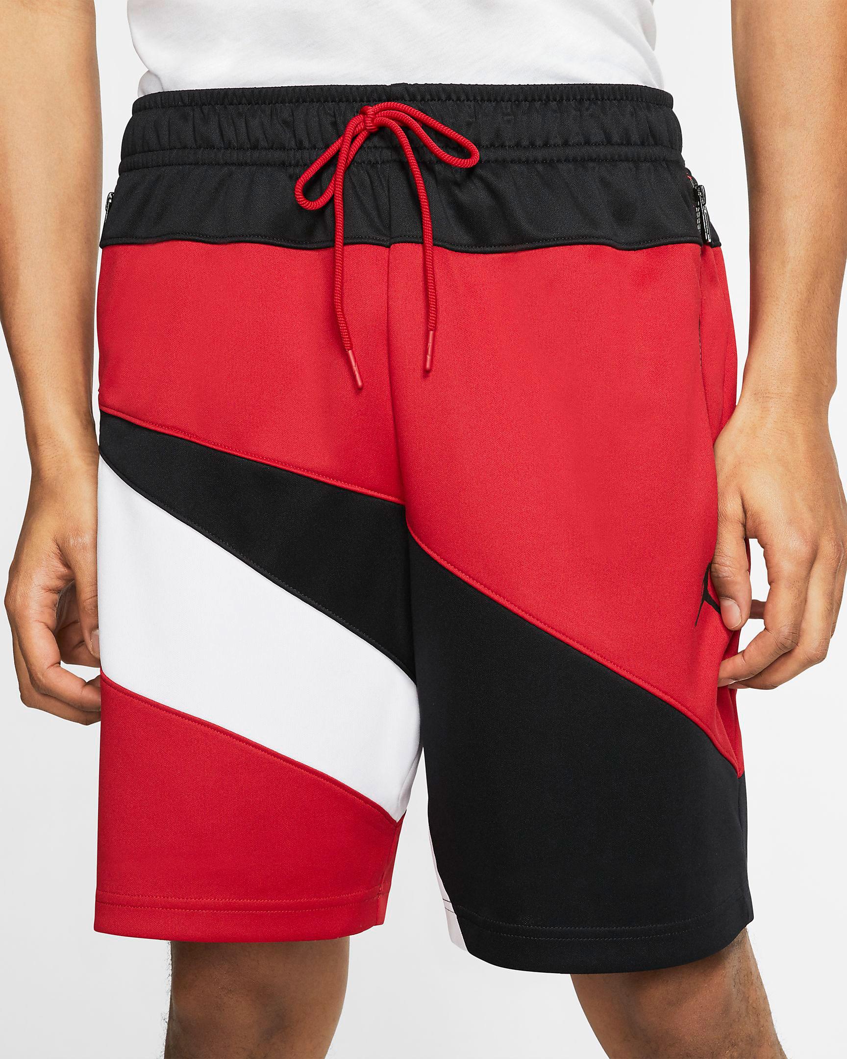 air-jordan-4-red-metallic-matching-shorts-2
