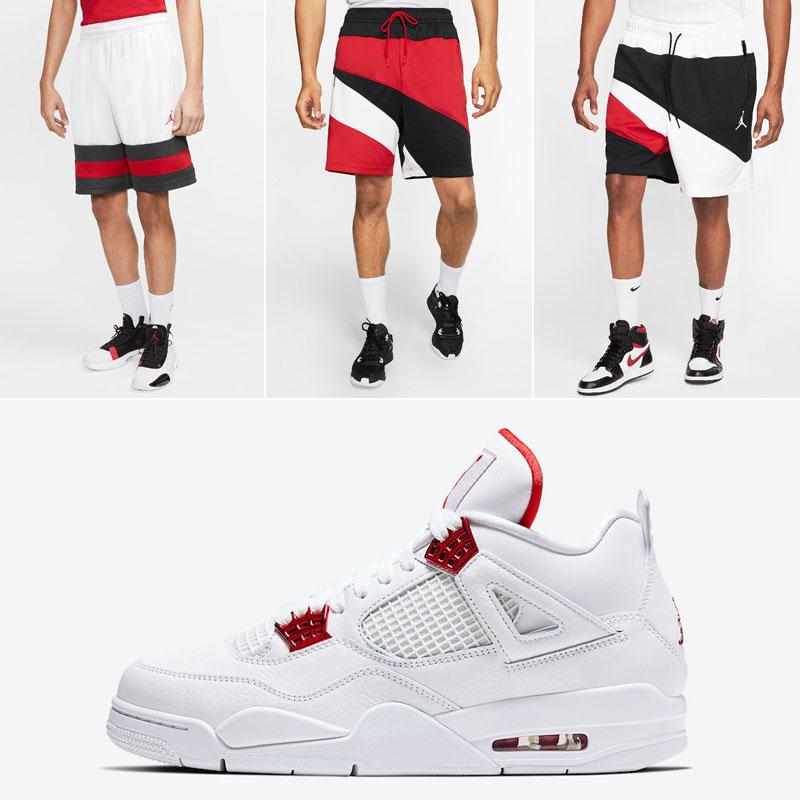 air-jordan-4-red-metallic-matching-shorts