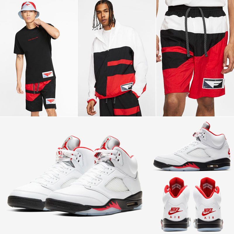 air-jordan-5-fire-red-nike-flight-clothing