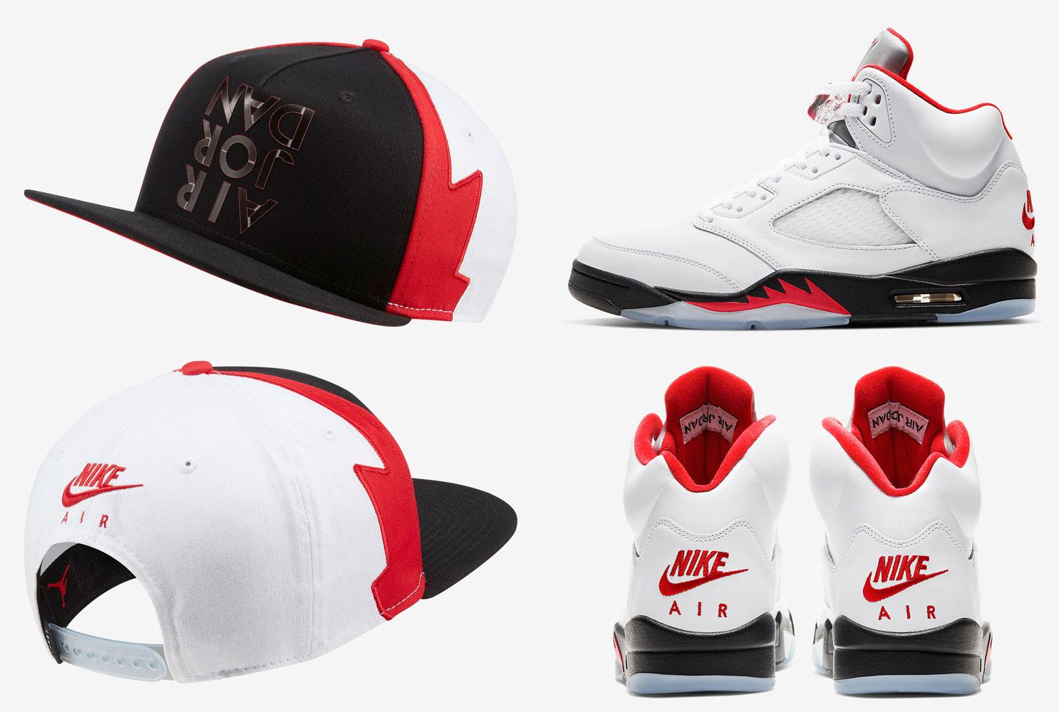air-jordan-5-fire-red-silver-tongue-hat