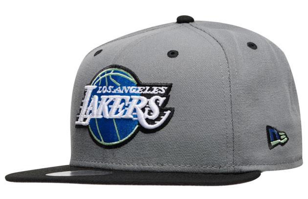 jordan-13-flint-grey-lakers-new-era-hat