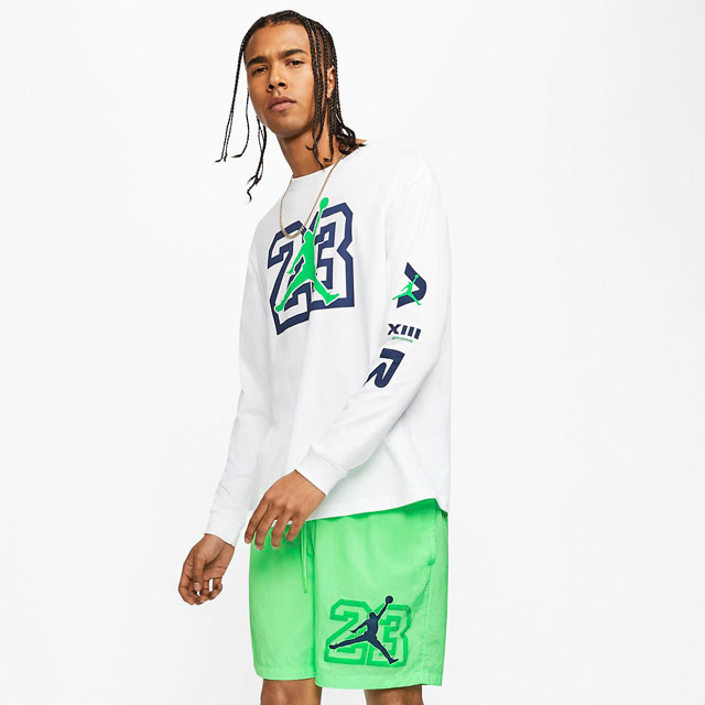 jordan-13-flint-shirt-and-shorts-outfit