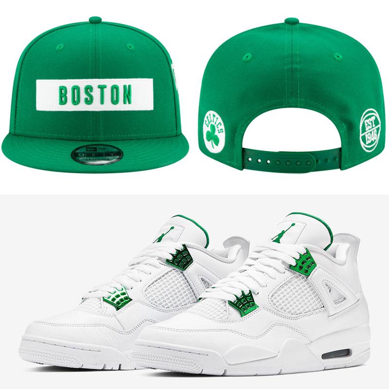 jordan-4-green-metallic-celtics-cap-match