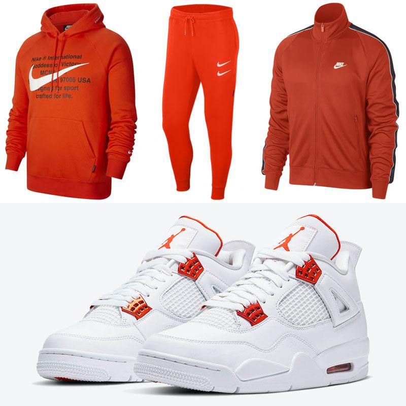 jordan-4-metallic-orange-nike-clothing