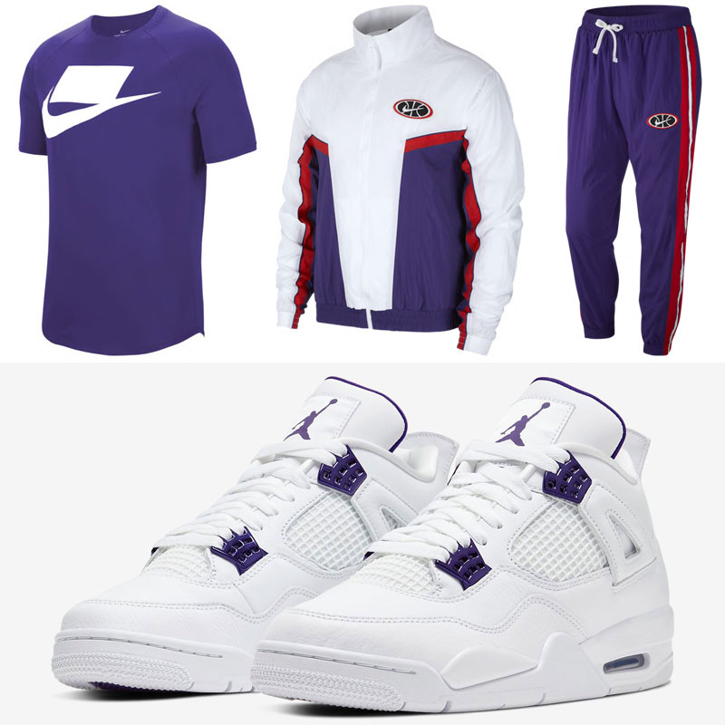 jordan-4-metallic-purple-nike-clothing-match