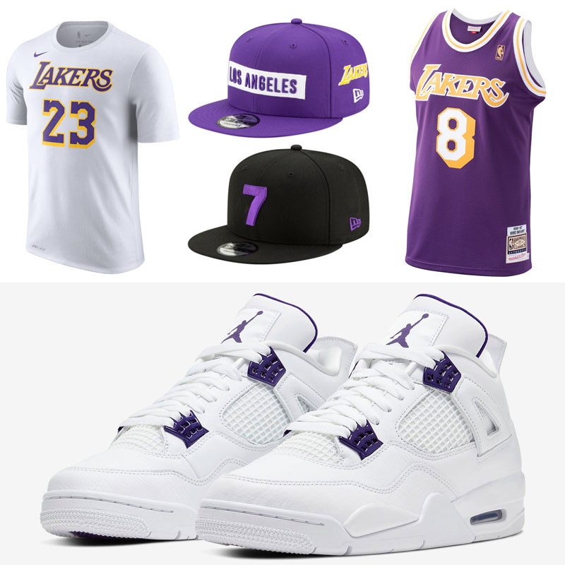 jordan-4-purple-metallic-lakers-clothing