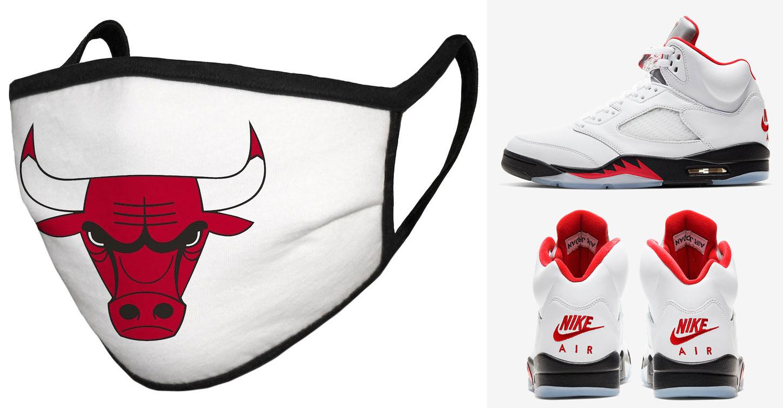 jordan-5-fire-red-chicago-bulls-face-cover-mask