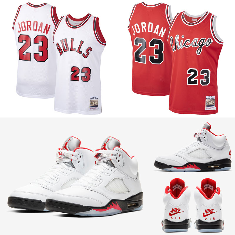 jordan-5-fire-red-michael-jordan-bulls-1984-85-jerseys